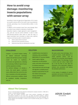 How to avoid crop damage with sensor array