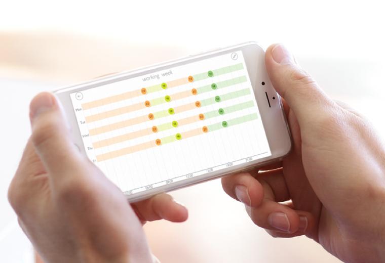 mobile app heating plan